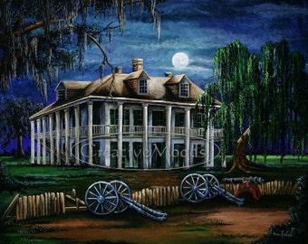 Moonlit Plantation Print