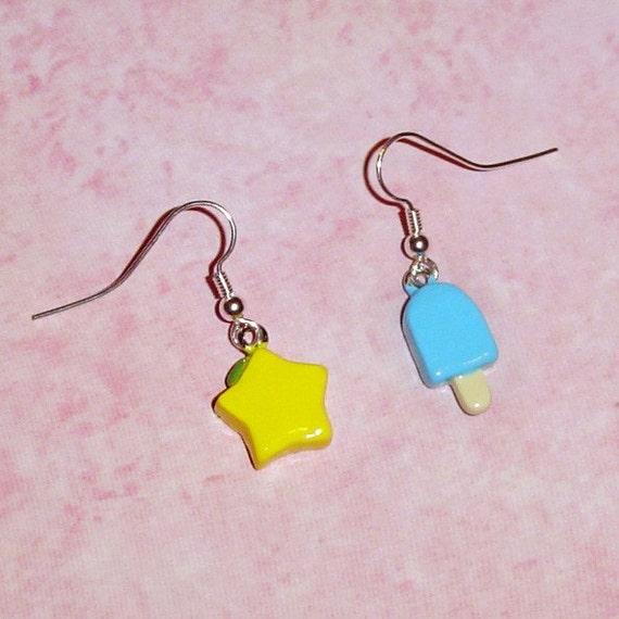 Kingdom Hearts - Sea Salt and Paopu Fruit Earrings