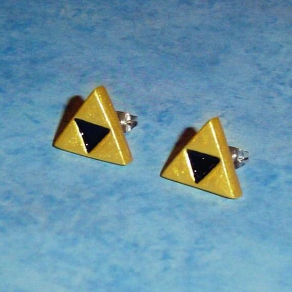 Legend of Zelda - Triforce Stud Earrings - Sterling Silver