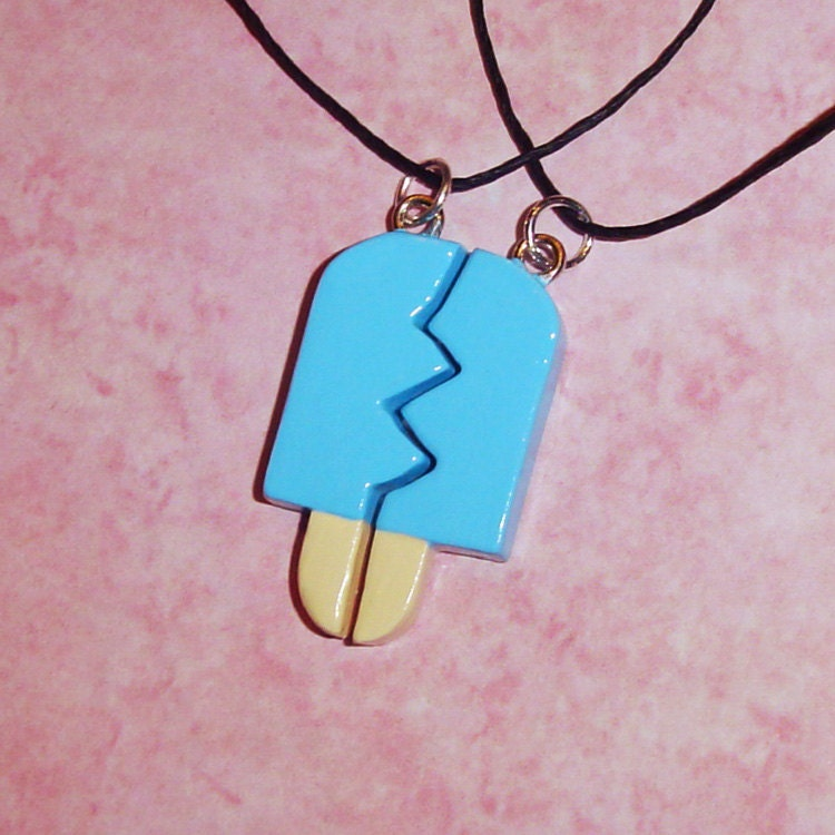 Kingdom Hearts Charm Bracelet: Kingdom Hearts Friendship Sea Salt Ice Cream Necklaces