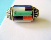 SALE...Sterling and Inlay Pendant