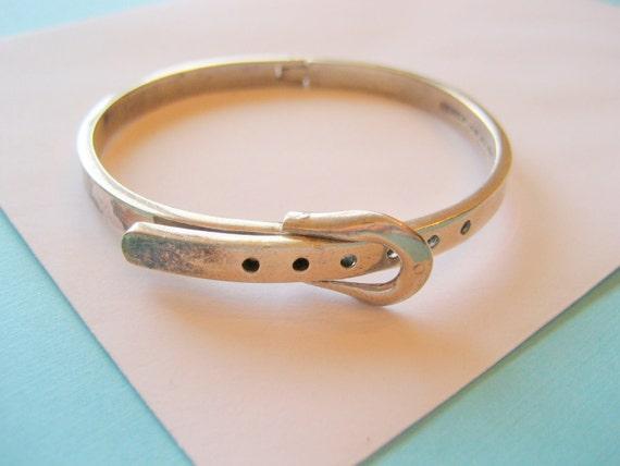Vintage Mexican Sterling Buckle Bracelet