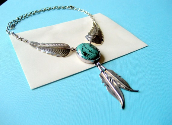 SALE....Navajo Sterling and Turquoise Necklace