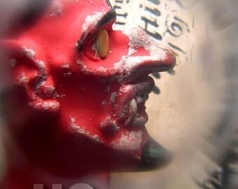 Evil Alphabet Red Devil Krampus Devil PRINT 100 from Photograph by Michael Brown