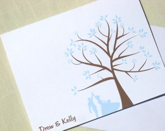 Custom Wedding Stationery - Set of 25 - Choose Color and Couple