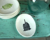 Small Dish with Birdcage