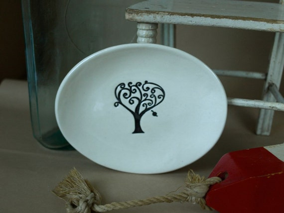 Oval Dish with Tree
