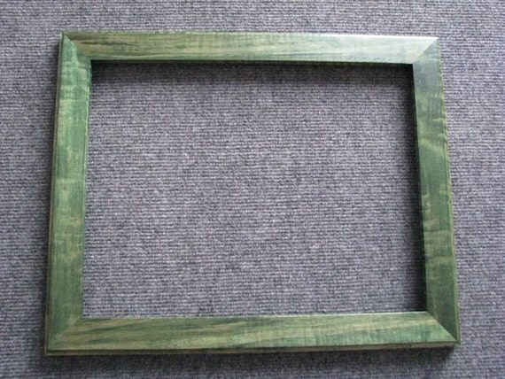 11x14  Curly Maple with green dye Picture Frame