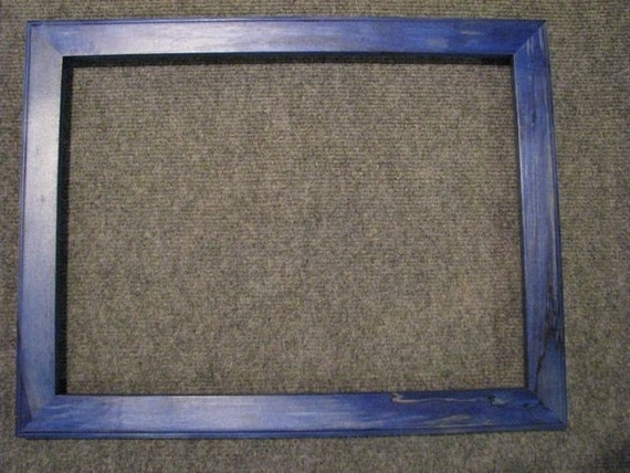 12X16 Maple Picture Frame Blue dye