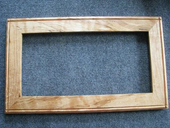 8 X 16 Spalted Yellow Birch with light flame Picture Frame