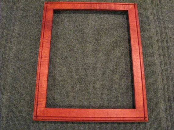 11x14  Curly Maple with red dye Picture Frame A