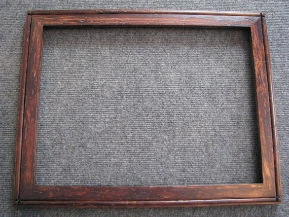 12 x 16 Rustic Wormy Rock Maple Picture Frame with brown dye