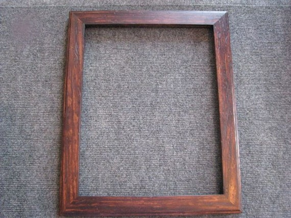 11X14 wormy maple with brown dye picture frame