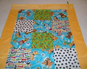 Doggy Theme Baby Quilt/Lovey/Wall Hanging