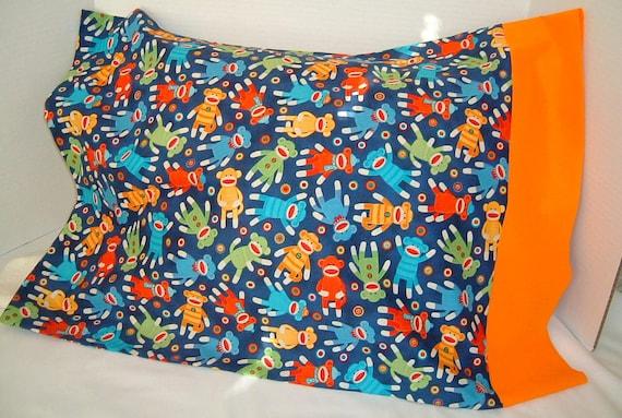 Sock Monkey Pillowcase