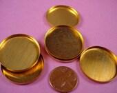 6 Brass Round Bezel Cups 28mm High Wall