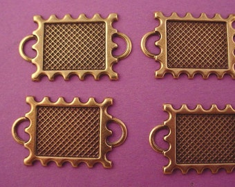 6 brass ox postage stamp connector setting 16x12