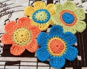 Crocheted Flower Appliqués
