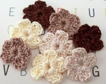 Crochet Brown Flowers