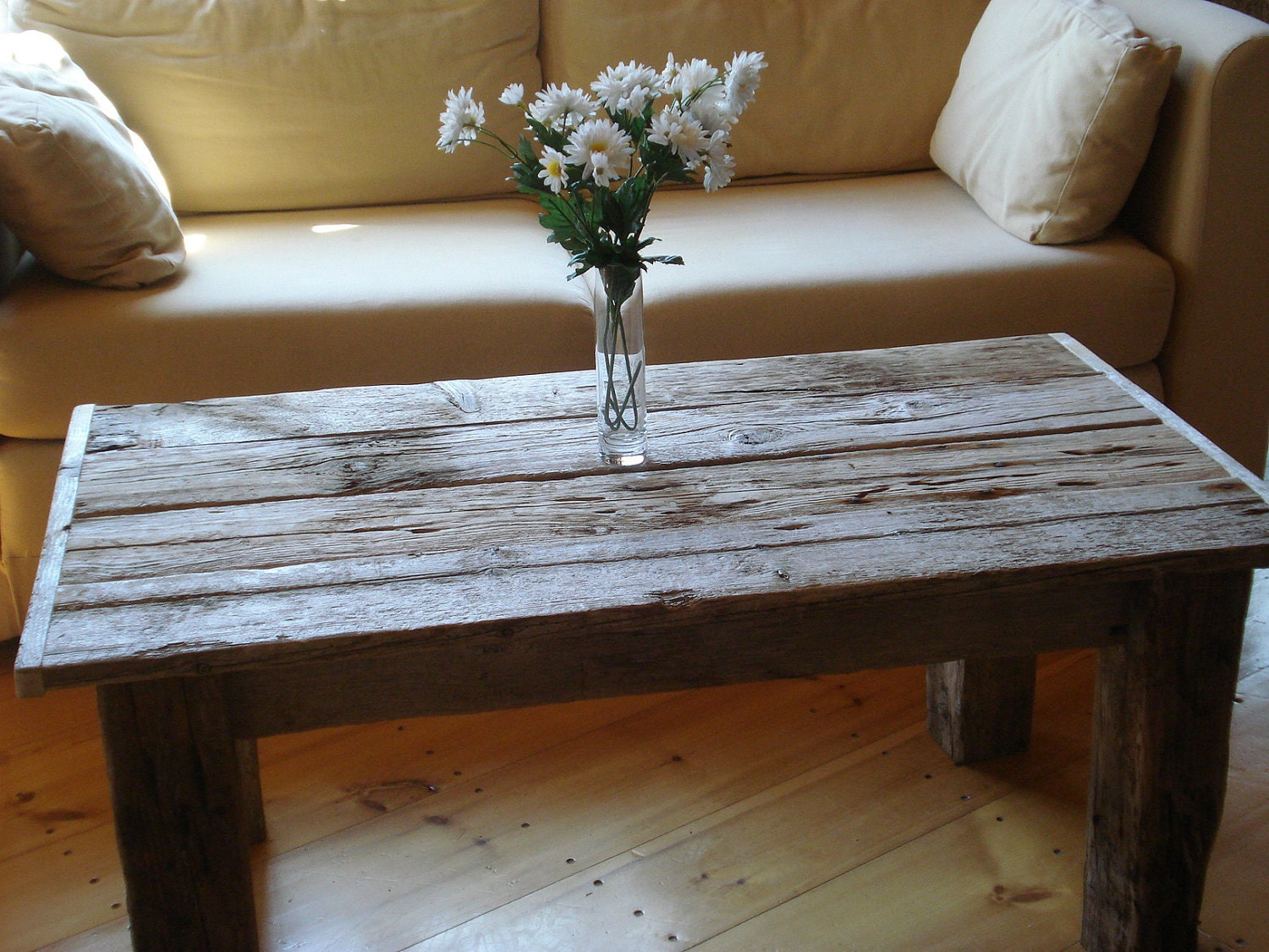 Driftwood coffee table 42 x 22 x 16 20 h for Driftwood tables handmade