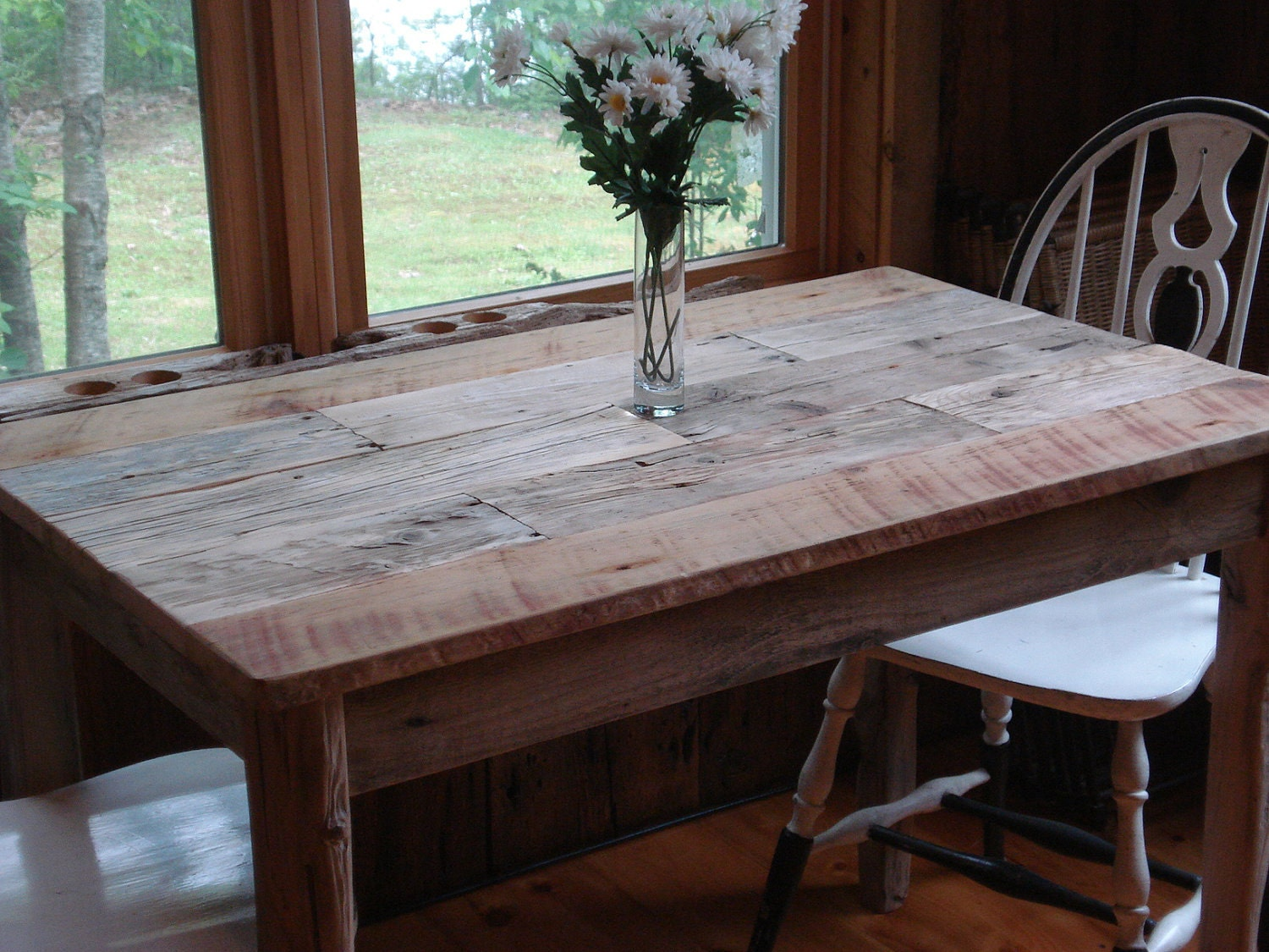 Driftwood dining room table 42x26x29h for Dining room tables etsy