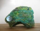 Chicken Poncho or Crocheted Wrist Cuff