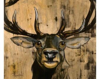 Francis the Elk (Fine Art Print not a real Elk)