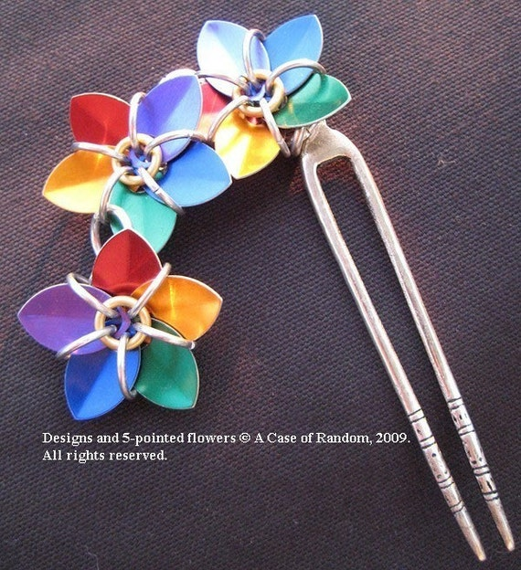 rainbow scale maille hair fork
