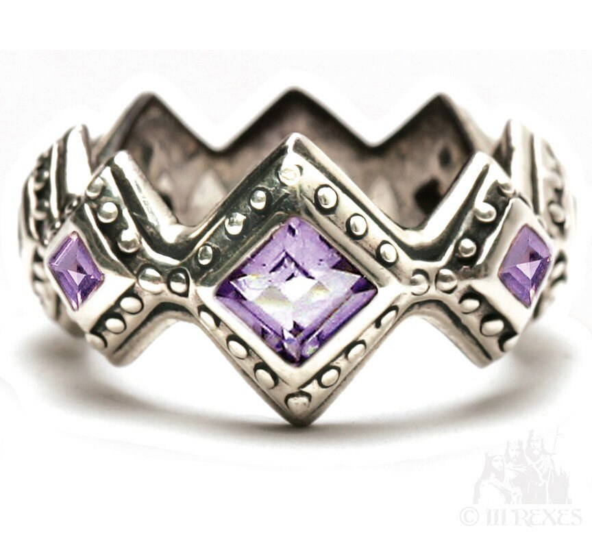 Renaissance Wedding Ring Amethyst Designed By Tara Greer