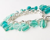Bracelet with aquamarine bead, jewelry