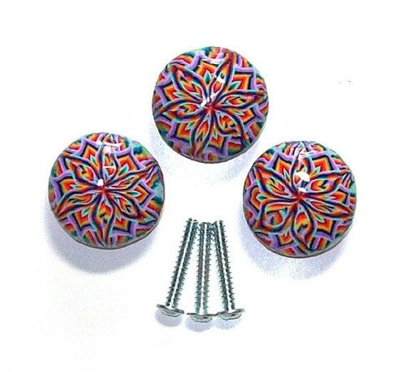 3 polymer clay design wood pulls knobs handles nbr11