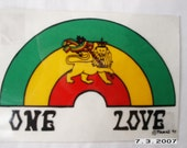 ONE LOVE WINDOW DECAL
