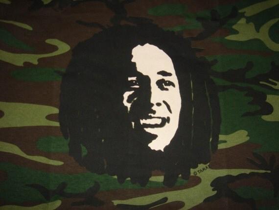 Bob Marley Camo T Shirt XL