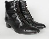 Vintage Dark Brown Granny Boots