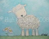 Cute Little Lamb - Blank Note Card Greeting Card