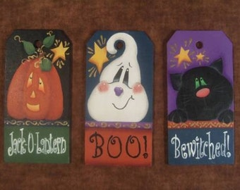 Tag Trio Decorative Painting Pattern Packet Halloween