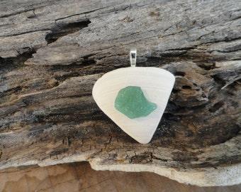 Sea Glass Pendant-Gift Idea-Valentine Gift Idea - Valentines Day - Valentine