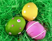 Super SALE! Easter Eggs Set of 3 Pastel Polymer Clay