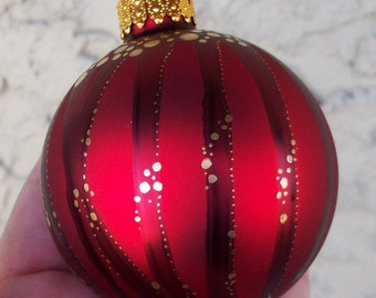 Super SALE! Christmas Glass Ornament Hand painted OOAK