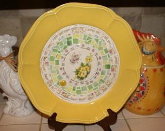 Mosaic Vintage China Plate