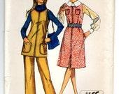 1970s Misses' Petite Jumper w/Slit, Tunic & Pants, Size 16P - Simplicity 9169