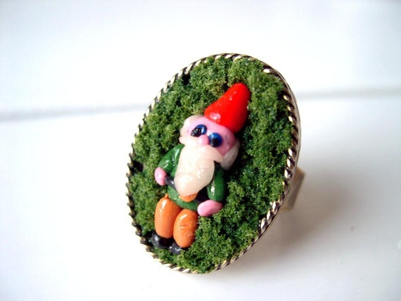 Garden Gnome  in Moss Ring Woodland kawaii