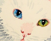 Cat Art White By-color Eyes
