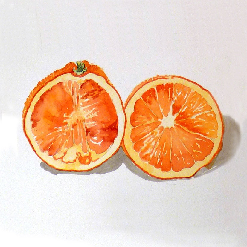 Kitchen Art 32cm: Orange Art Print Kitchen Art Fruit Print Orange Kitchen