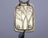 Strong Yet Graceful---Brass Etched Tree Necklace