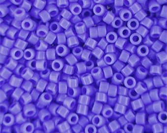 Miyuki Size 11/0 Delica Beads Cyan Blue DB1138,  7.2 grams