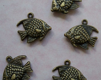 5 Bronze Sunfish Charms