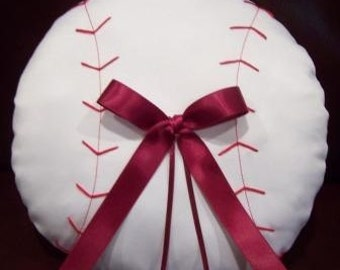 Baseball Ring Bearer Pillow