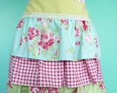 Ruffled Cute Hostess Half Apron Tanya Whelan Darla Fabrics