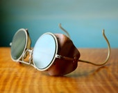 Steampunk Glasses.  Antique Motorcycle or Motorist Goggles or Sunglasses